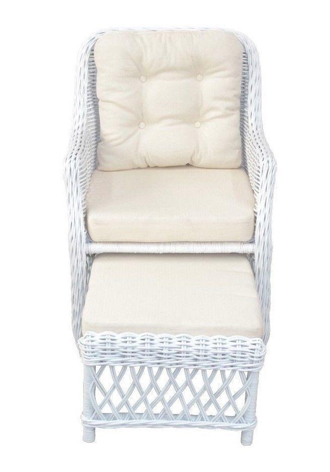 rattansessel wei inkl kissen relaxsessel fernsehsessel korbsessel fu st tze kaufen bei go. Black Bedroom Furniture Sets. Home Design Ideas