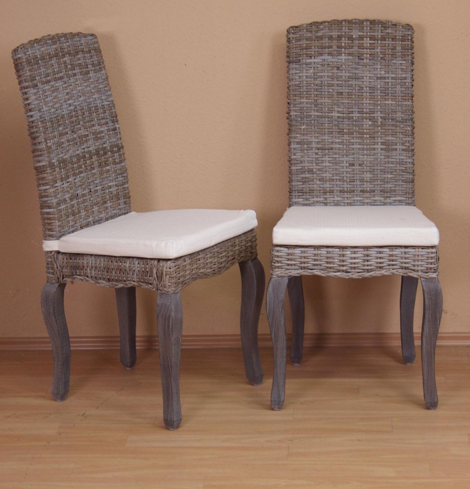 Cool X Massiv Used Look Braun Inkl Kissen Modern Design Stuhlset With Rattanstuhl  Modern