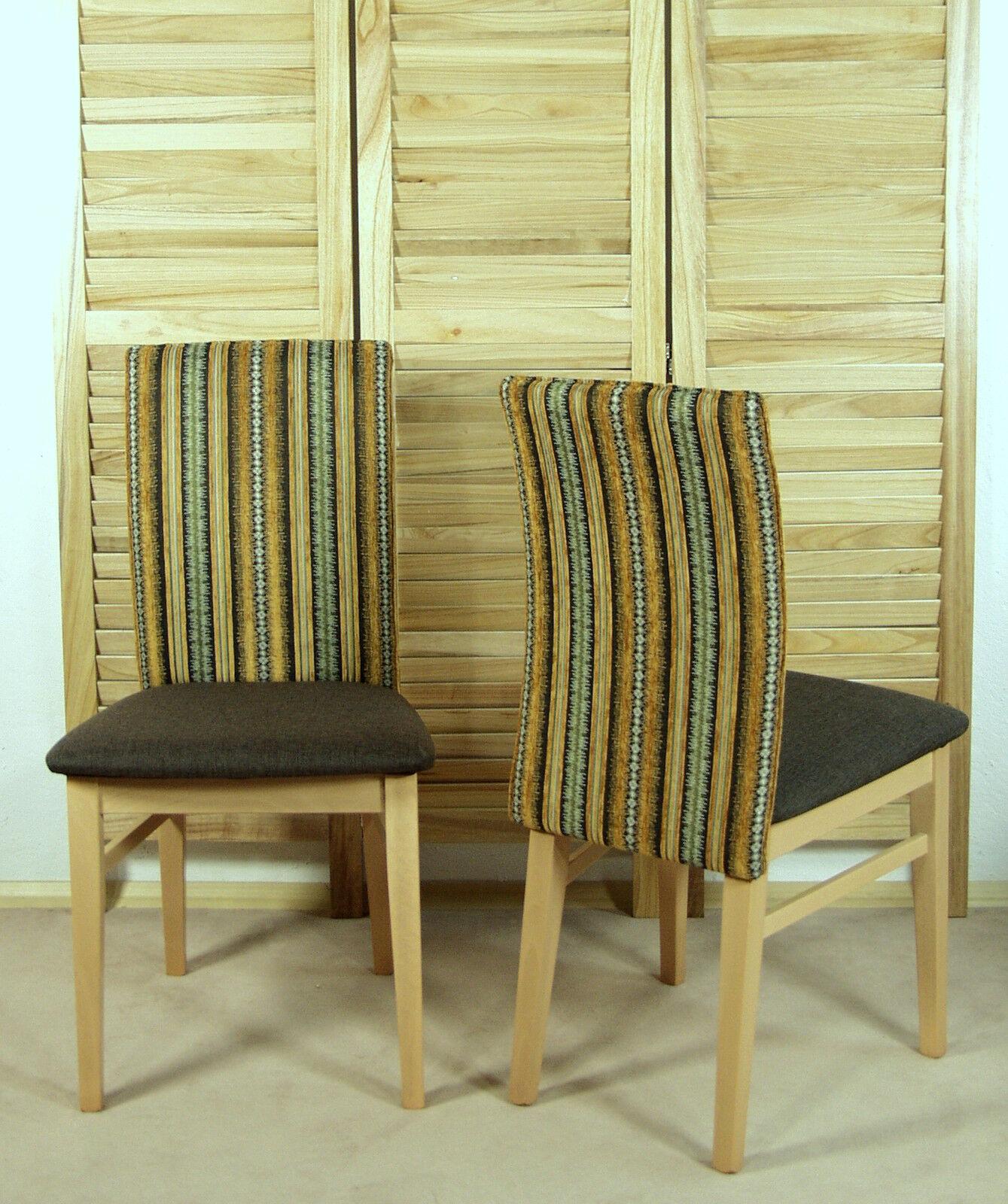 2 X Stuhl Mocca Terra Massivholz Buche Stuhle Esszimmerstuhle