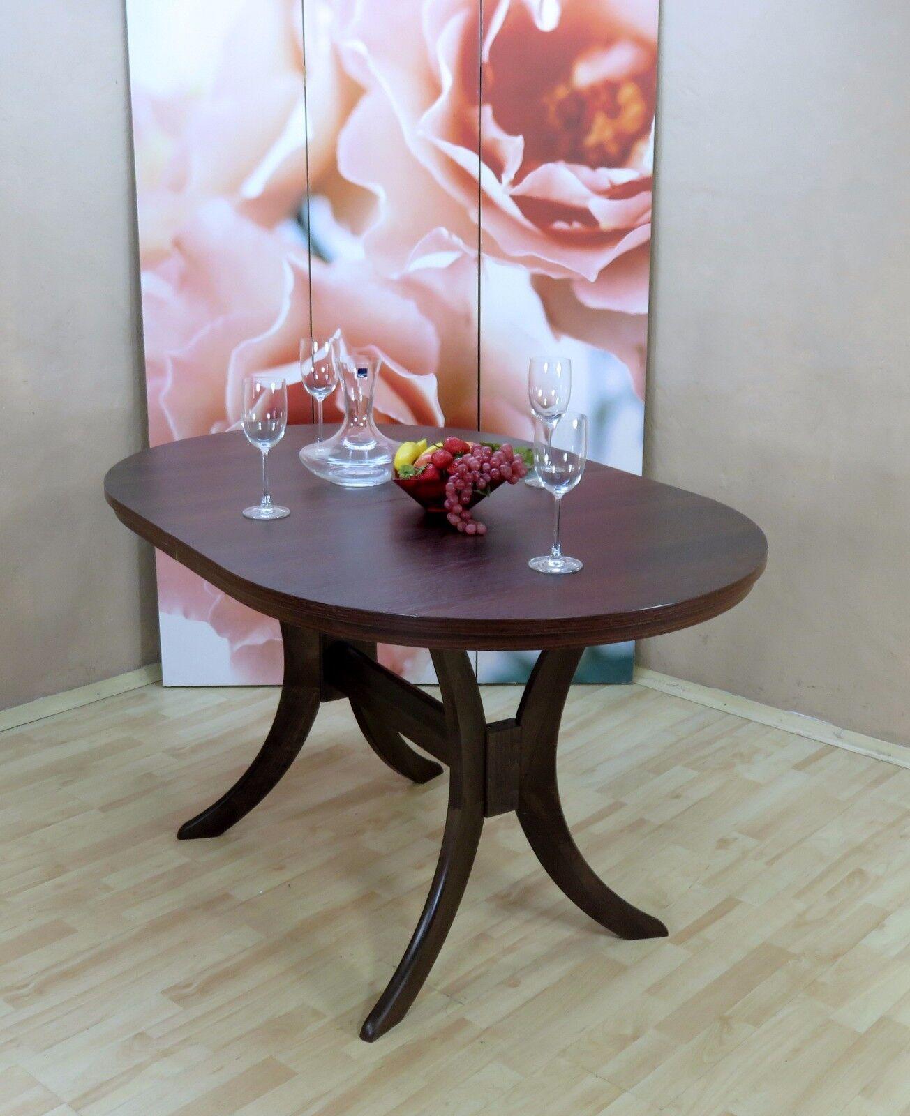 Auszugtisch Einlegplatte Nussbaum Massivholz Oval Esstisch