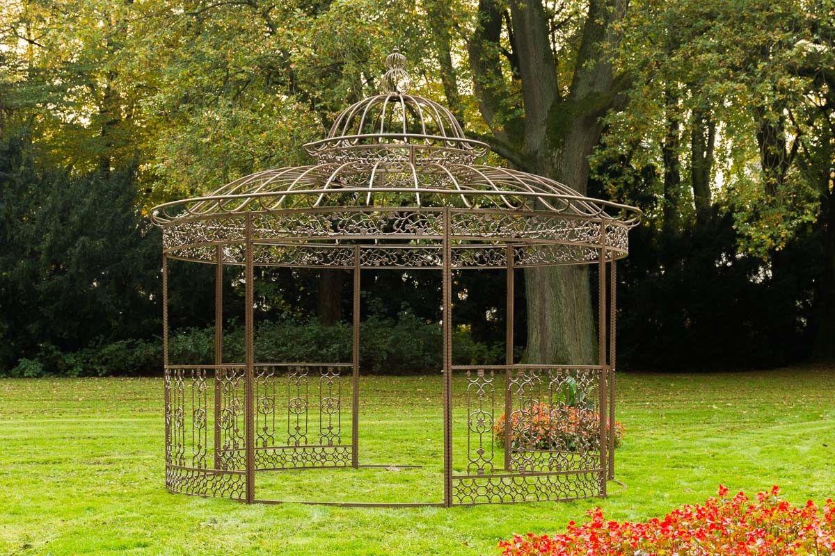 luxus pavillon eisen braun antik pergola rosenbogen gartenpavillon