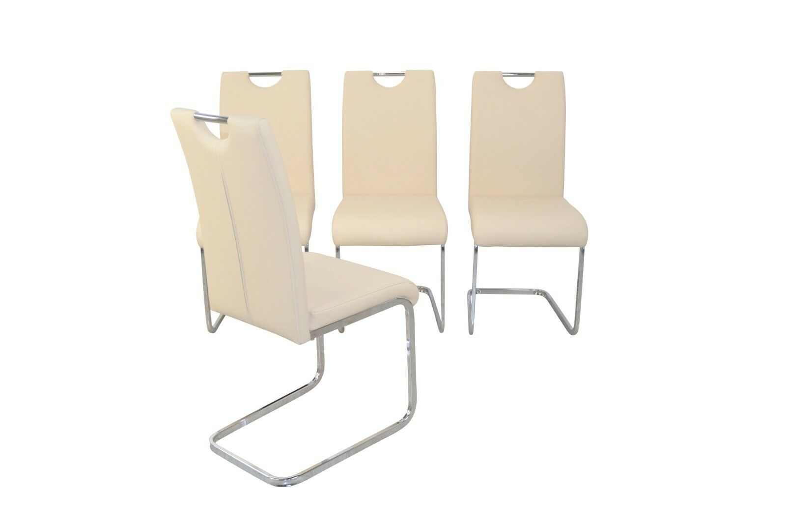 Schwingstuhl Esszimmerstühle Creme 4 Schwinger X Stuhlset Design Modern Griff TFl1JcK