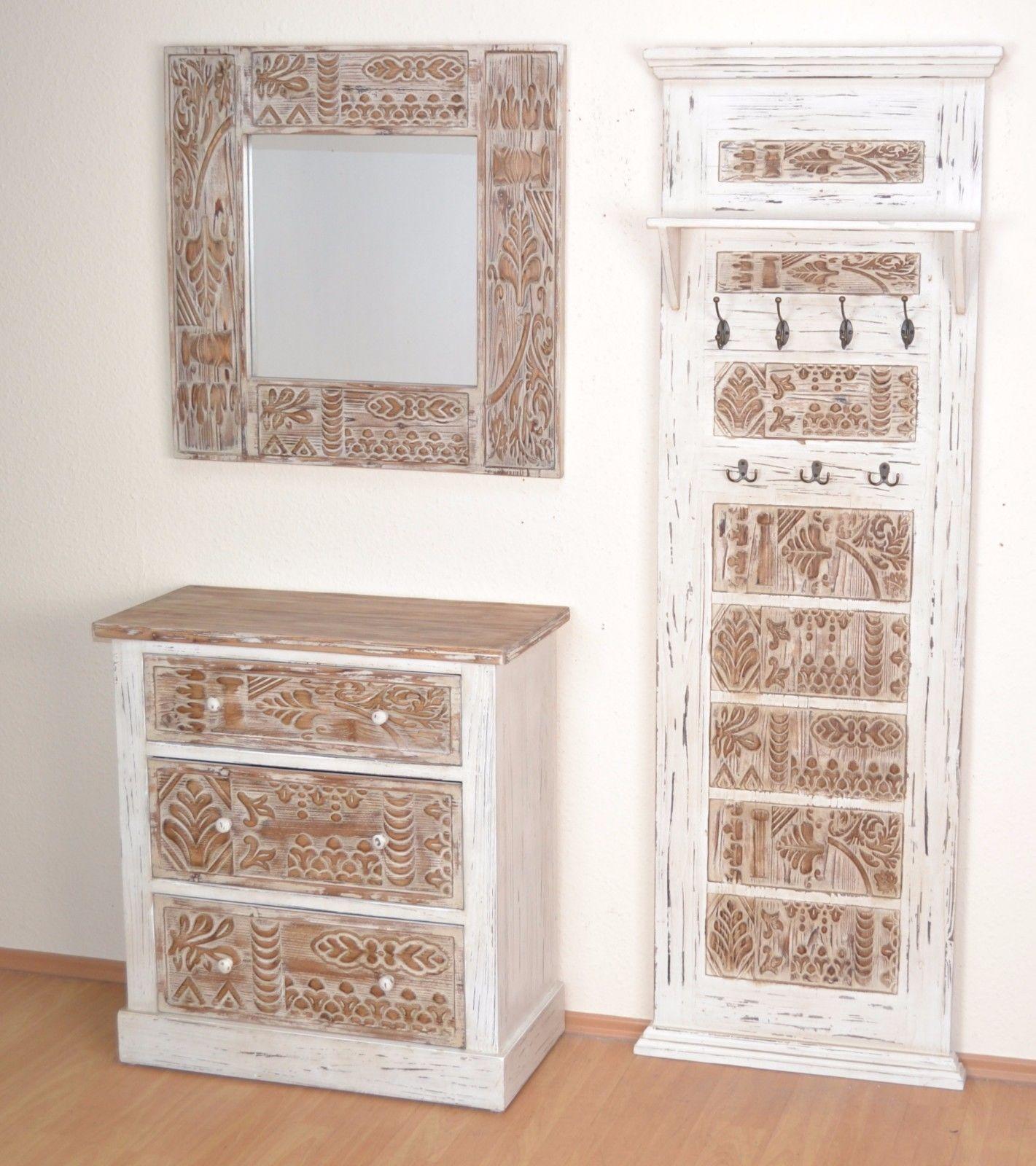 garderobenpaneele massivholz naturbraun wandgarderobe flur vintage used look kaufen bei go perfect. Black Bedroom Furniture Sets. Home Design Ideas