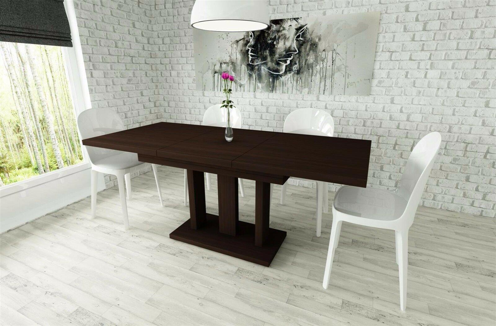 Moderner Säulentisch Esstisch Ausziehbar Edler Auszugtisch Günstig