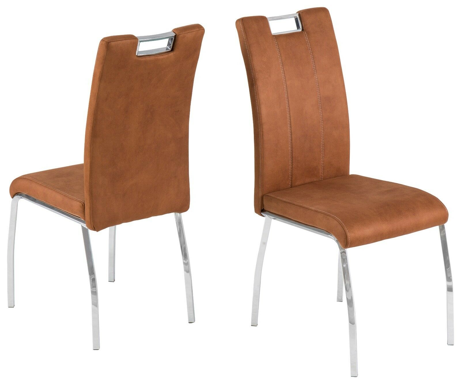 Inspirierend Esszimmerstühle Cognac Foto Von 4 X Stühle Softtex Stuhlset Esszimmerstühle Modern