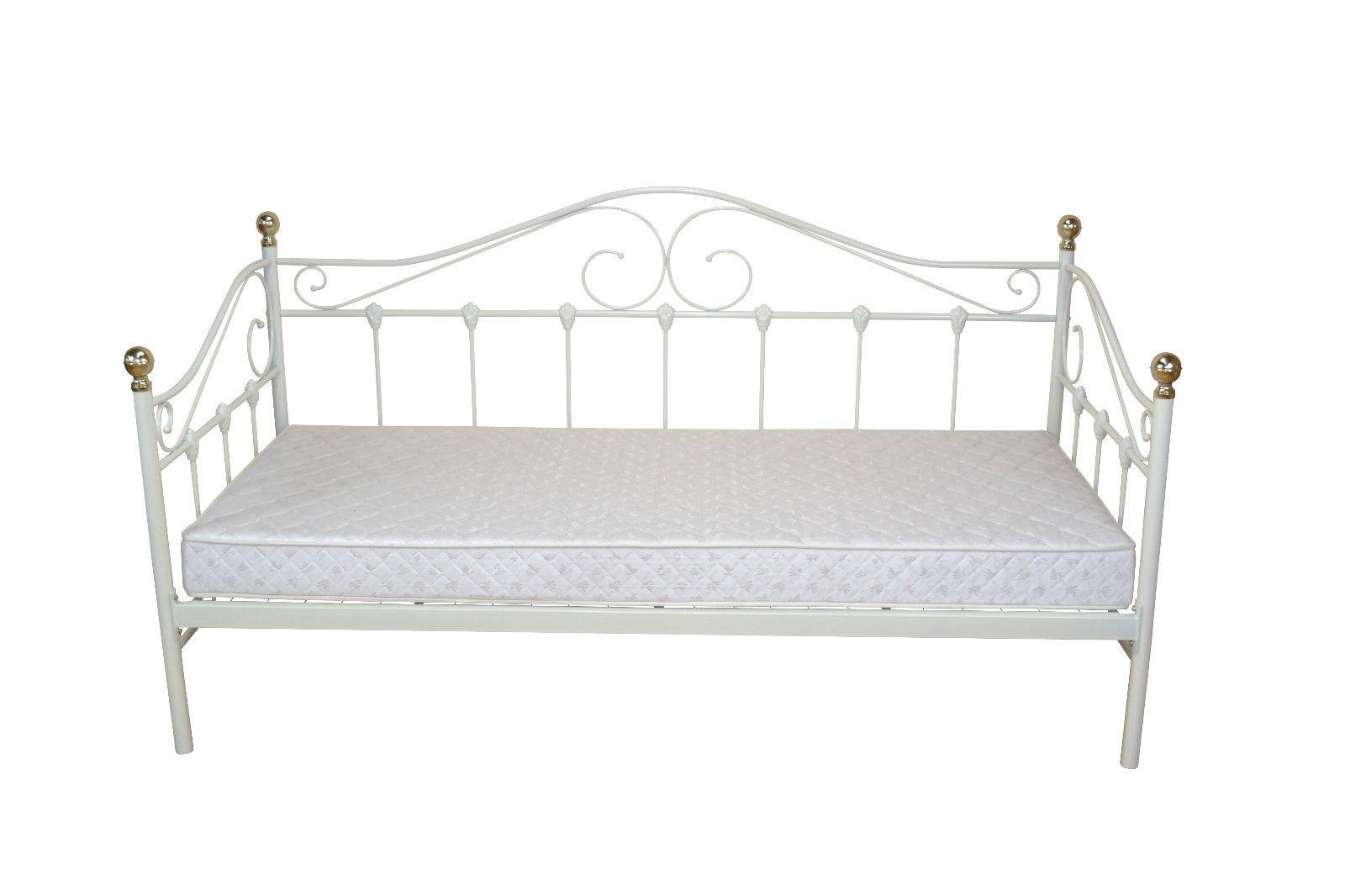 metallbett 90 200 wei. Black Bedroom Furniture Sets. Home Design Ideas