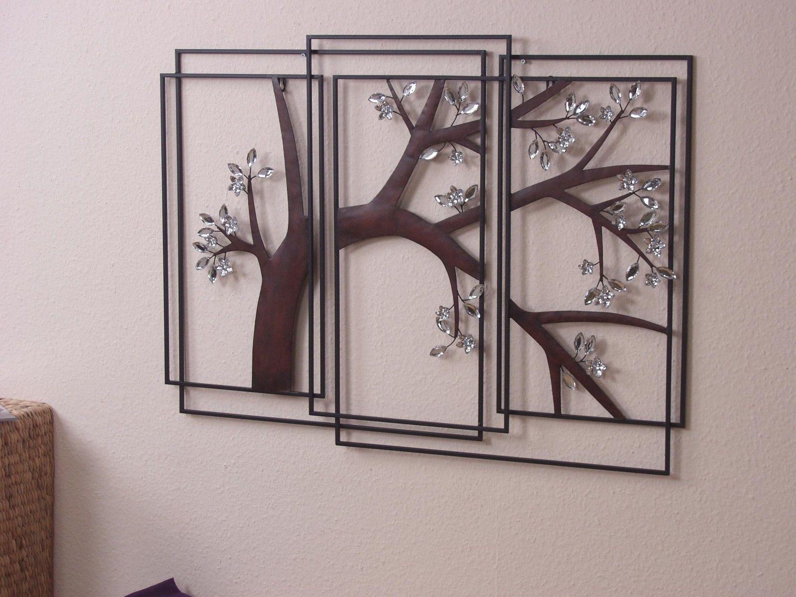 moderne Wanddeko Glassteinen Wandschmuck Wandobjekt Metall Bild ...