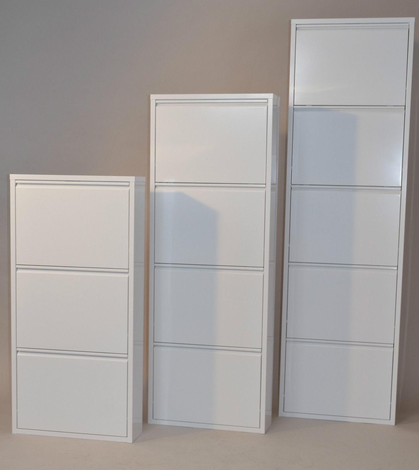 Schuhschrank Design moderner metall schuhschrank weiß 3 klappen schuhkipper schuhregal