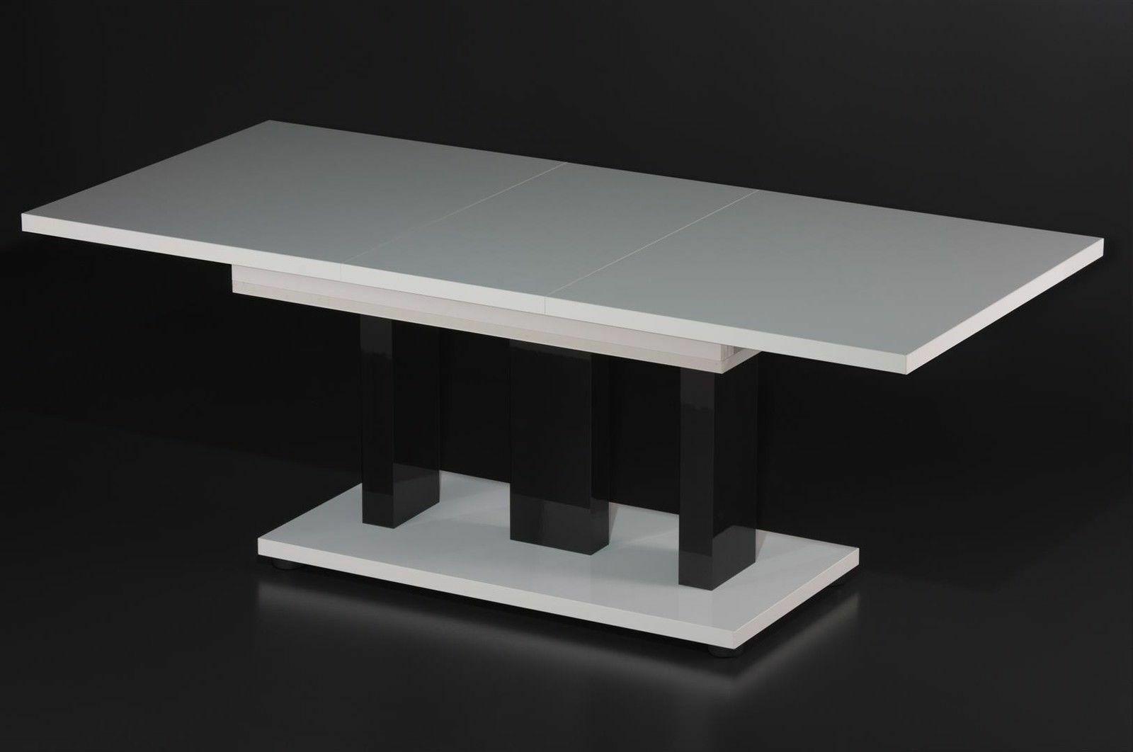 Couchtisch Auszug Tisch Wohnzimmer Erweiterbar Zweifarbig Nußbaum