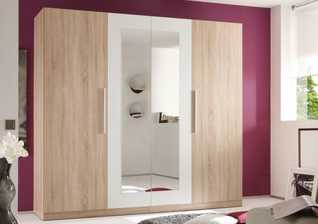 Schlafzimmer Komplettset Sonoma Eiche / weiß ...