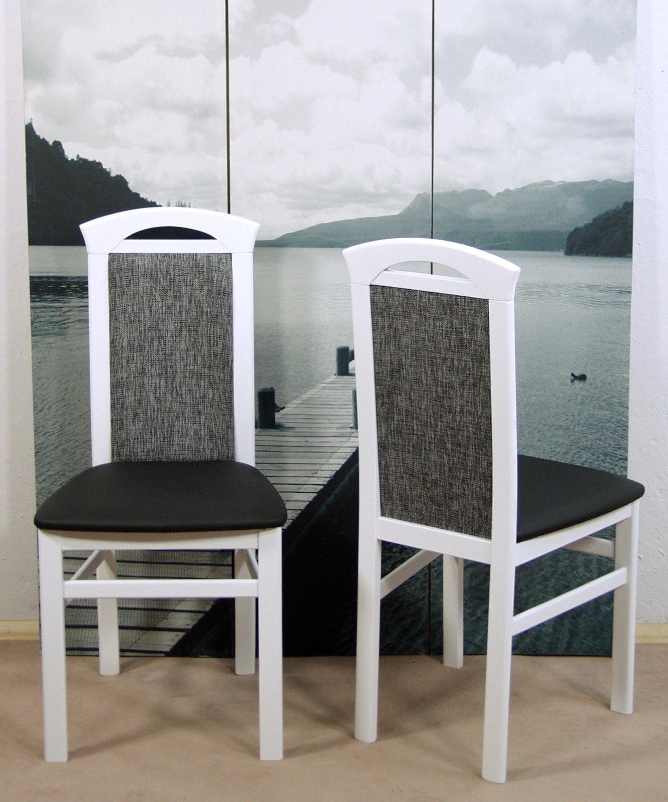 Faszinierend Stühle Modern Referenz Von 2 X Stuhl Stühle Weiß Schwarz Esszimmerstühle