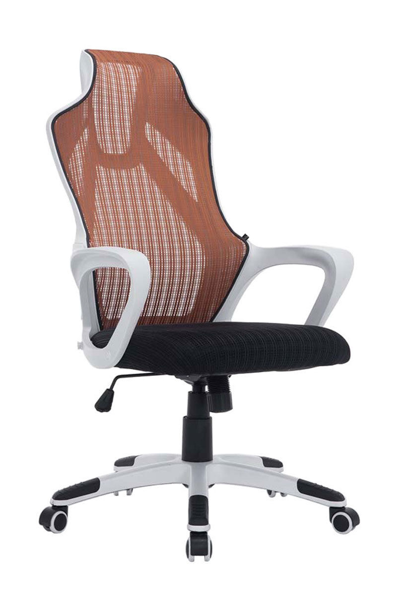 Bürostuhl weiß braun  Bürostuhl weiß schwarz braun Netzbezug Chefsessel ergonomisch ...