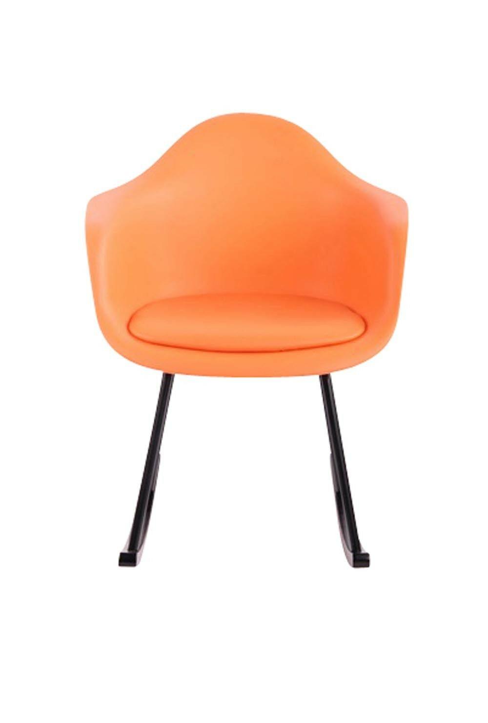 Schaukelstuhl Orange Kunststoff Relaxsessel Korbsessel Sitzschale