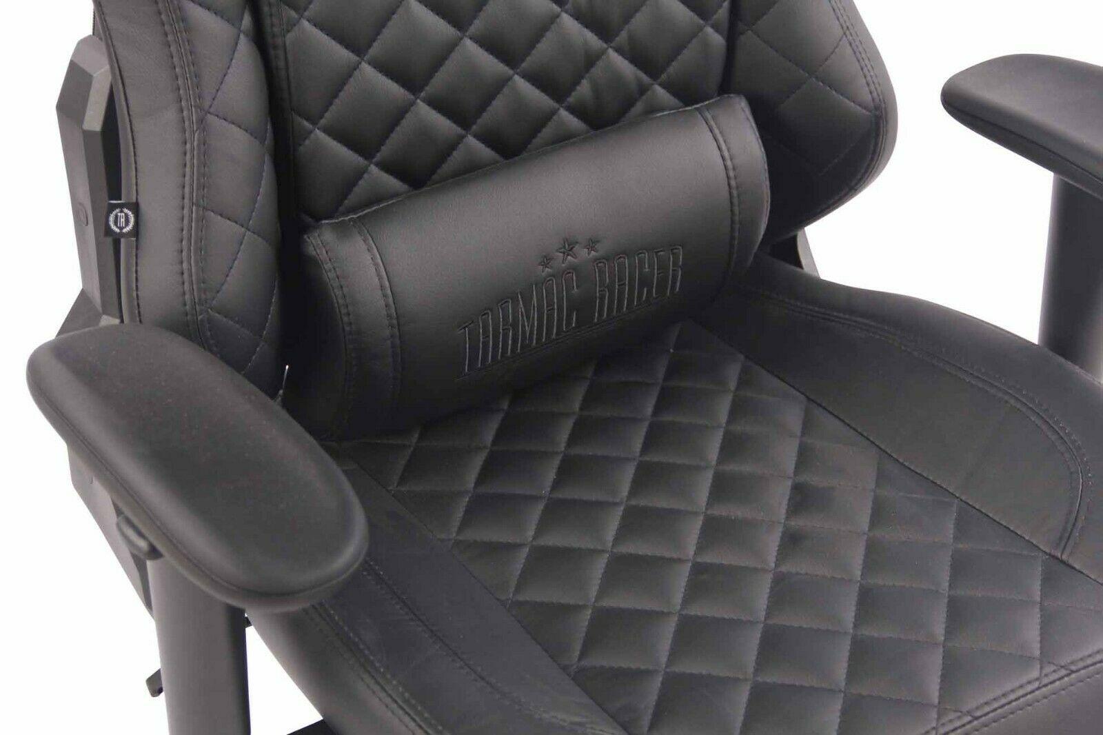 XL Bürostuhl 150 kg belastbar schwarz Kunstleder Chefsessel Gamer Gaming Zocker