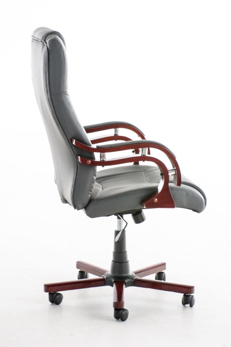 Bürostuhl Modern chefsessel grau hartholz hochwertig stabil bürostuhl modern design