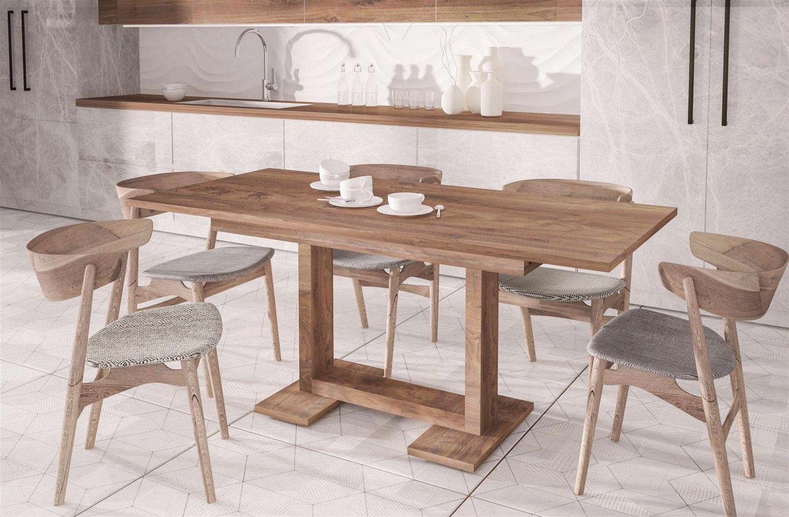 design Esstisch nussbaum 130-210 ausziehbar Auszugtisch Küche ...