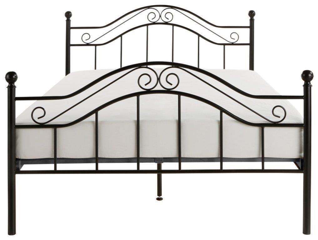 Metallbett Schwarz 90x200 Cm Bett Romantisch Ehebett Doppelbett