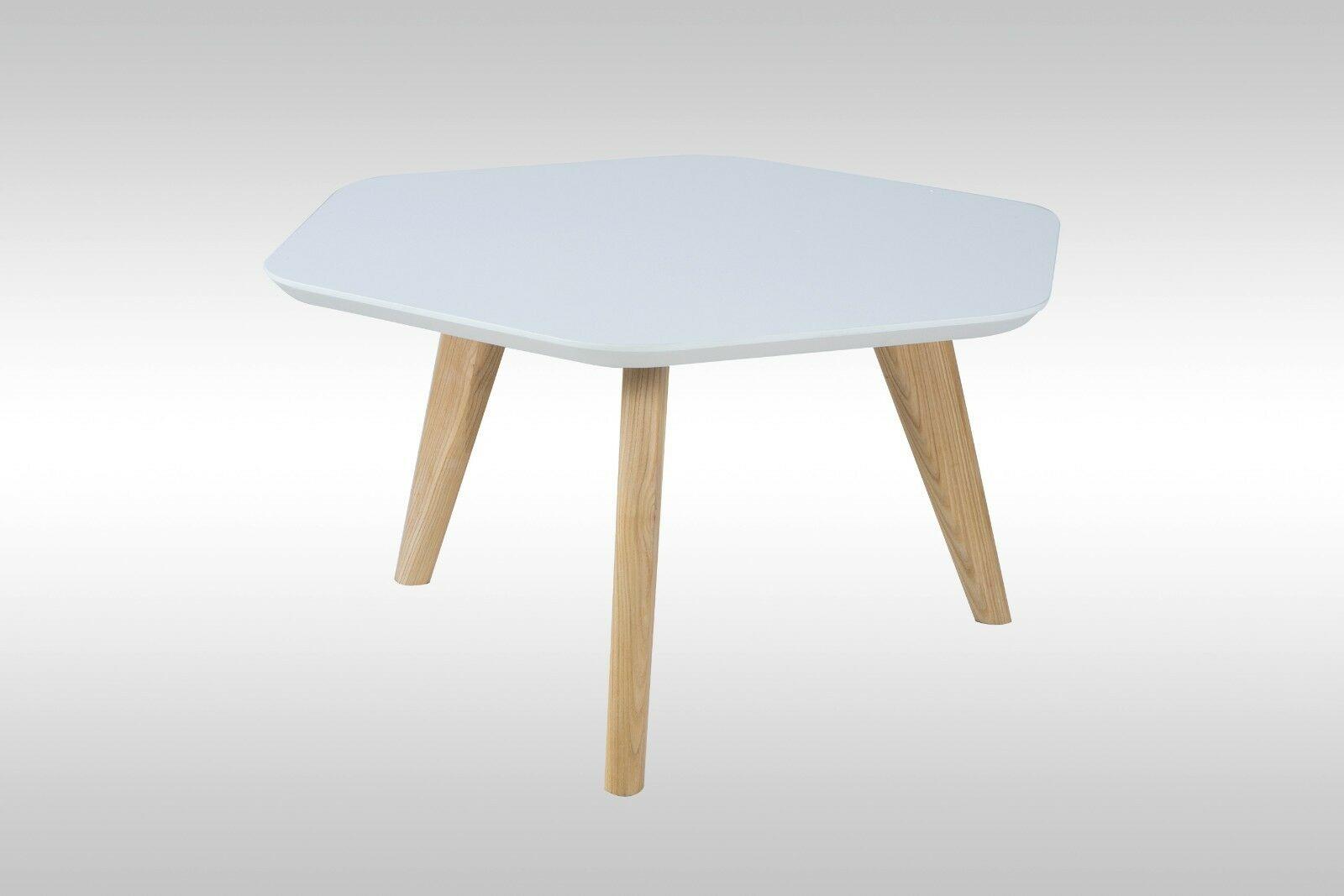 Moderner Couchtisch Weiss Matt Esche Sofatisch Wohnzimmer Tisch