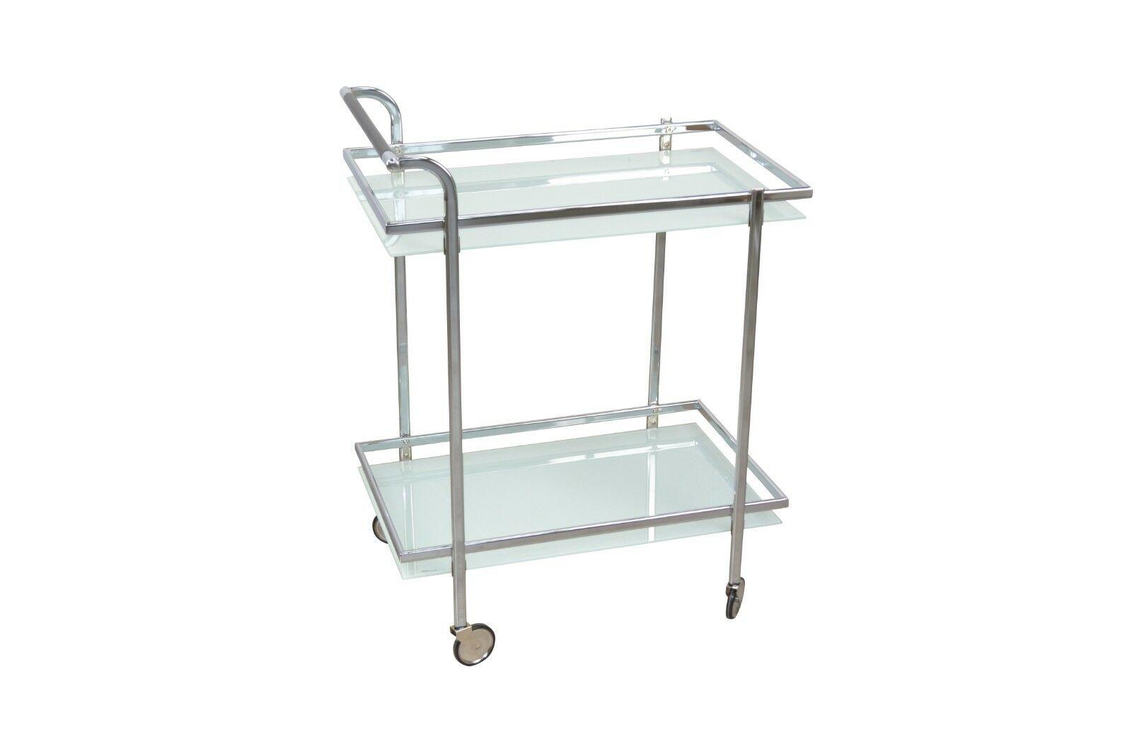 Bezaubernd Küche Beistelltisch Galerie Von Servierwagen Glas Chrom Küche Getränkewagen Rollbar Modern