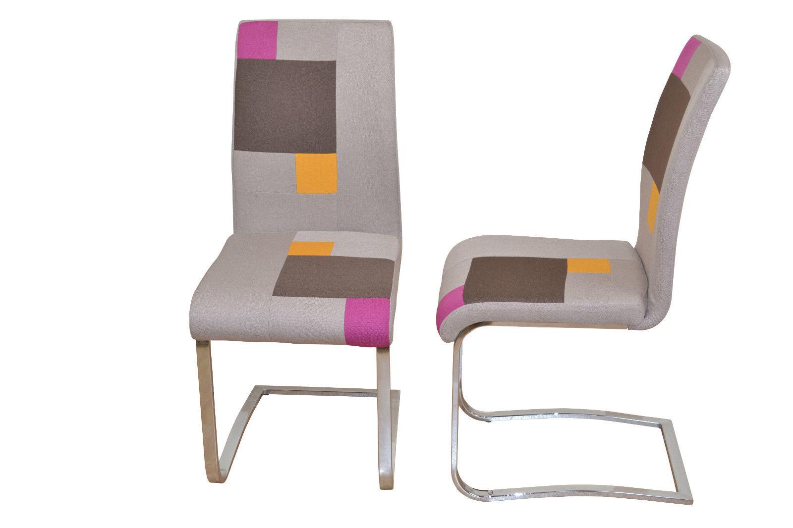 Stühle Bunt 2 x stühle bunt esszimmerstuhl schwingstuhl schwinger stoff