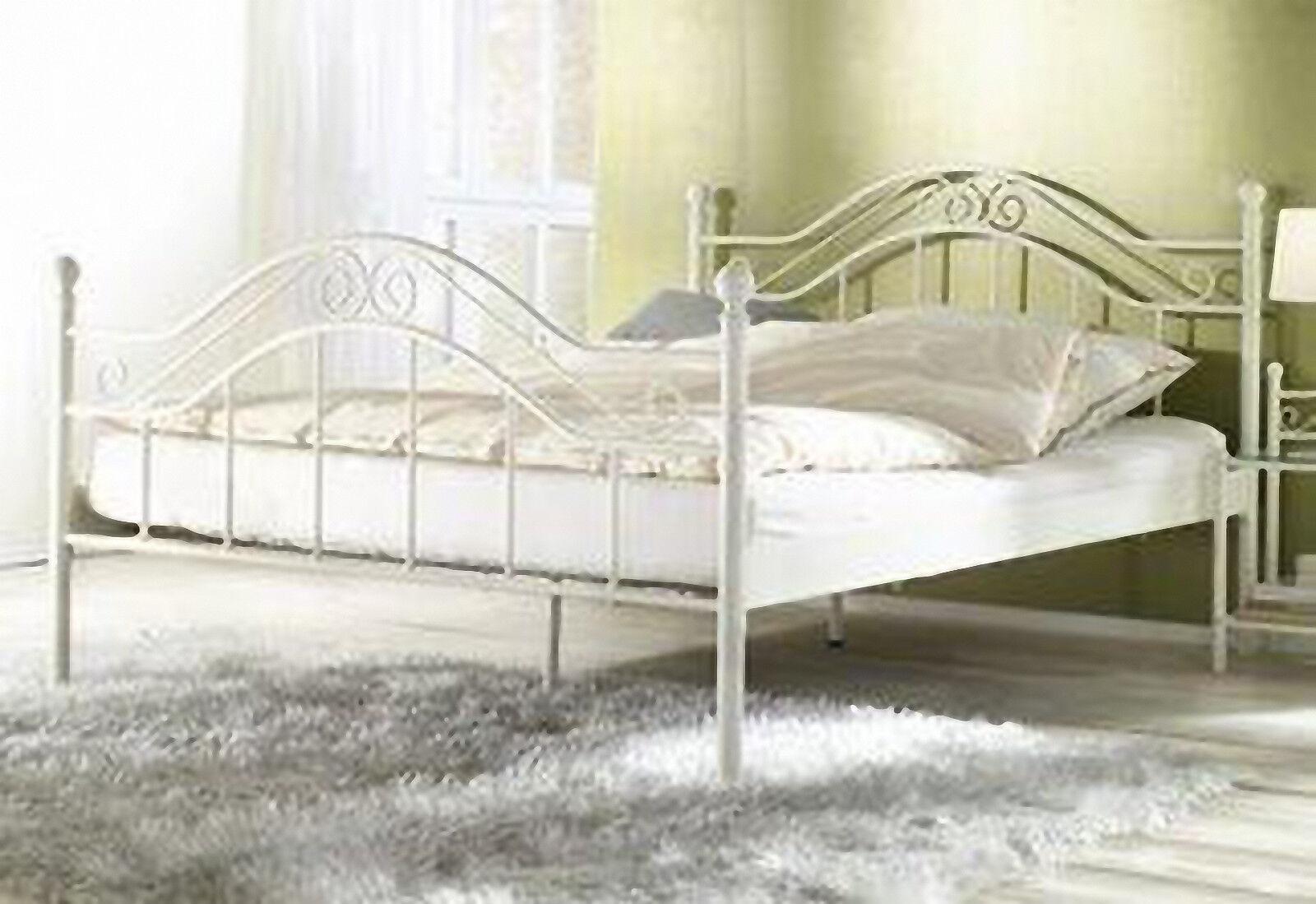 Good Himmelbett Wei X Cm Himmel Bett Metallbett Romantisch Ehebett  Doppelbett With Metallbett Himmelbett
