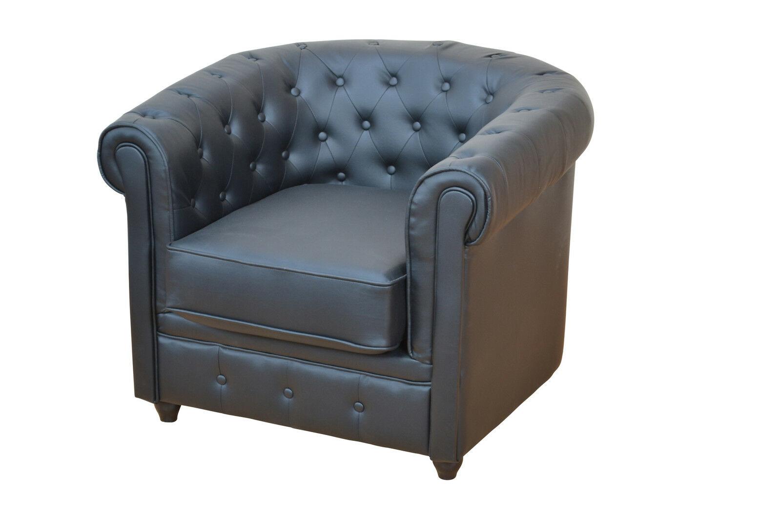 Sessel Schwarz Fernsehsessel Couchsessel Relaxsessel Modern Design