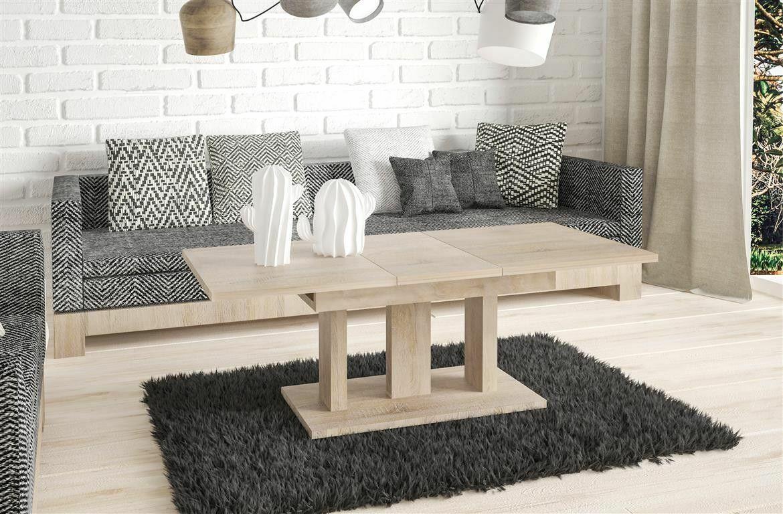 Couchtisch Sonoma Eiche Wohnzimmer ausziehbar Auszug modern design ...