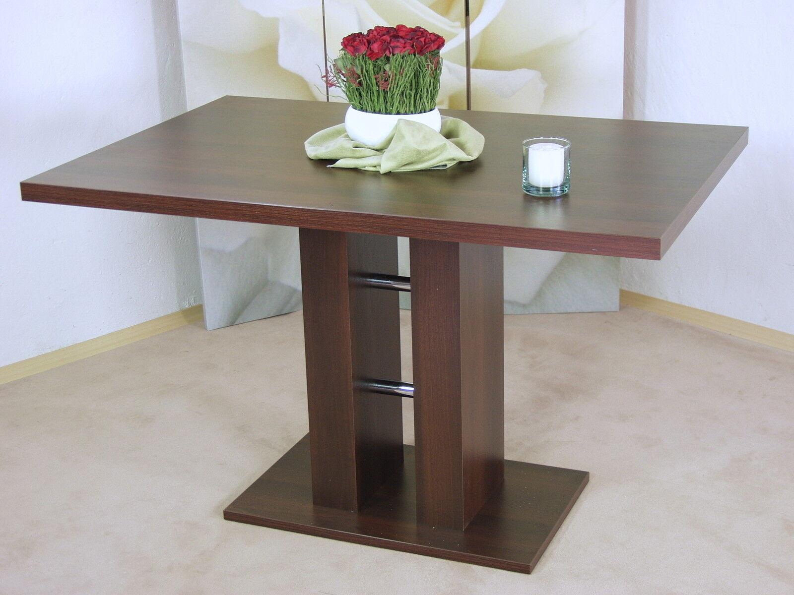 Design Saulentisch Nussbaum Dunkel Esstisch Esszimmertisch Kuchentisch Modern Kaufen Bei Go Perfect