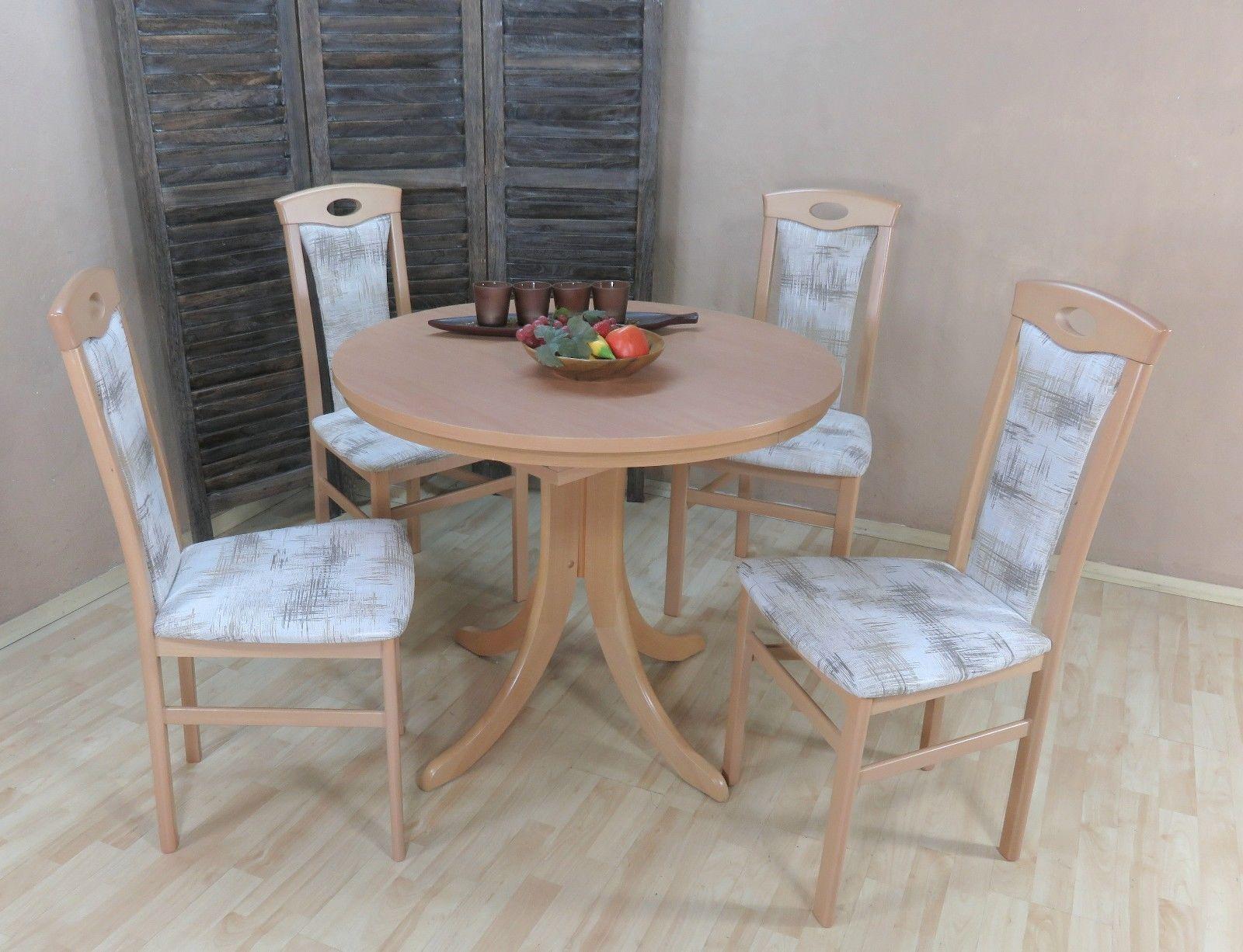 Wunderbar Stühle Für Esstisch Foto Von Tischgruppe Buche Natur Essgruppe 4 Stühle Auszug