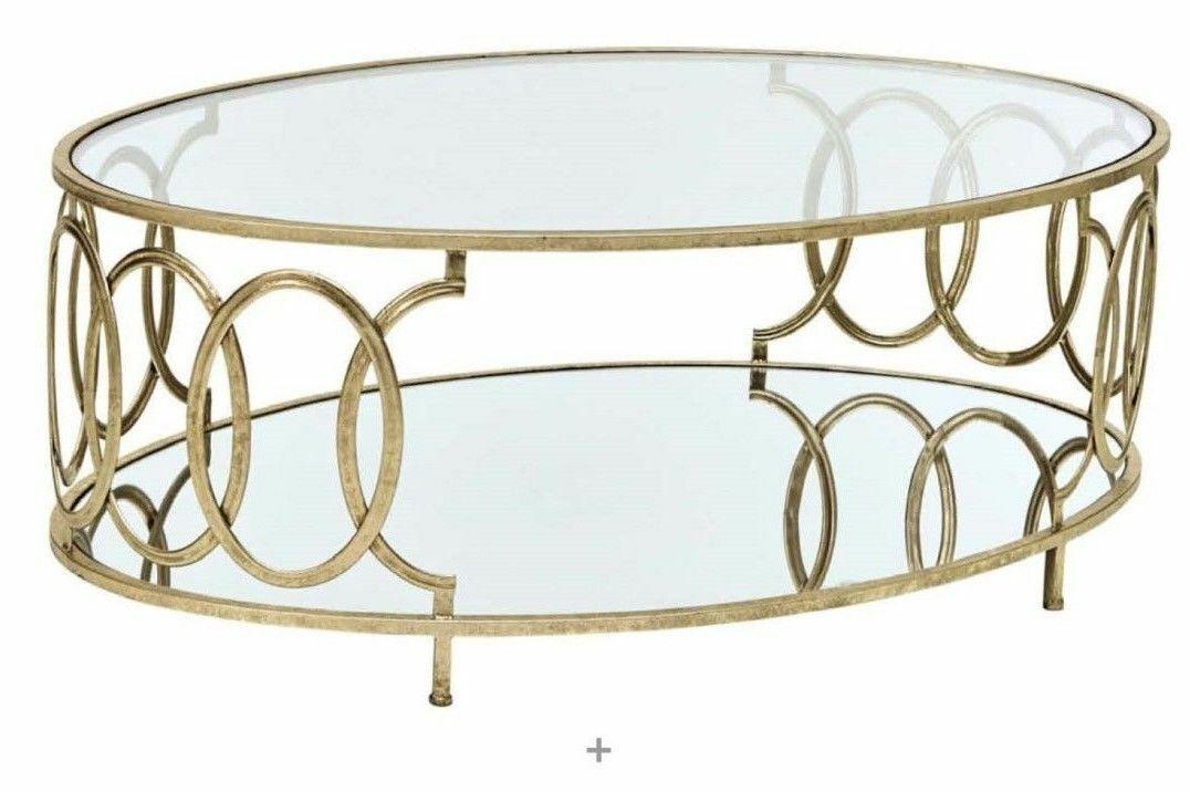 Couchtisch tisch beistelltisch glastisch metalltisch metall glas farbe gold neu kaufen bei go - Couchtisch metall glas ...