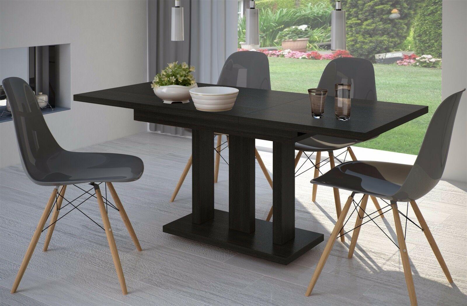 Esstisch ausziehbar design  Säulentisch Wenge 120cm edler Esstisch ausziehbar Holz Auszugtisch modern  design