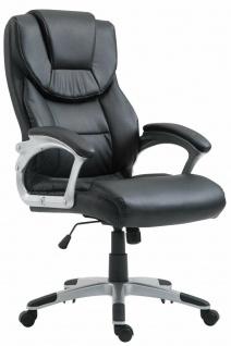 Bürostuhl 180 kg belastbar schwarz Kunstleder Chefsessel Computerstuhl Drehstuhl