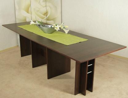 Kulissentisch nußbaum dunkel Esstisch Esszimmertisch Esszimmer Tisch modern neu