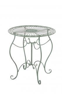 Gartentisch antik grün Beistelltisch Outdoor Tisch Terrasse Nostalgie Eisen neu