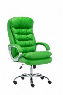 XXL Bürostuhl 235 kg belastbar Kunstleder grün Chefsessel schwere große Personen