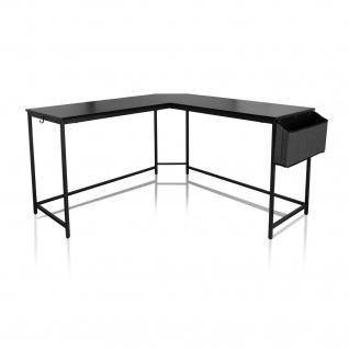 Eckschreibtisch Industrial design 135x135 cm Schwarz Computertisch Arbeitstisch