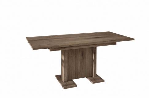 hochwertiger Säulentisch San Remo Trüffel ausziehbar Esstisch modern günstig