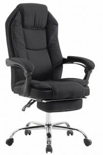 Chefsessel schwarz Stoff 130 kg belastbar Bürostuhl Schreibtischstuhl stabil