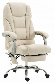 Bürostuhl Stoffbezug creme modern design drehbar Drehstuhl Arbeitshocker günstig