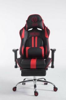 Chefsessel schwarz / rot Kunstleder Drehstuhl Computerstuhl Schreibtischstuhl