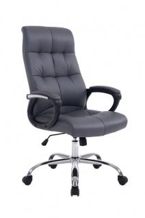 Bürostuhl 160 kg belastbar Kunstleder grau Chefsessel für schwere Personen