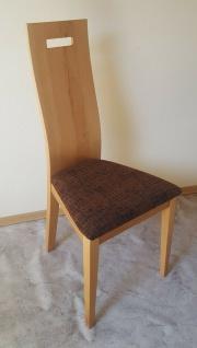 2 x Esszimmerstühle Kernbuche massivholz geölt Stuhlset Hochlehnstühle braun