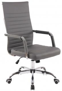 moderner Bürostuhl 120 kg belastbar Kunstleder grau Drehstuhl Chefsessel stabil