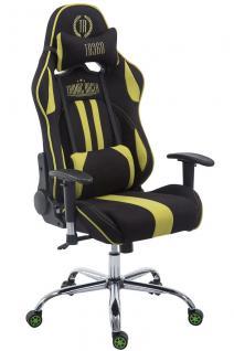 Chefsessel 150kg belastbar schwarz grün Stoffbezug Bürostuhl Zocker Gamer Gaming