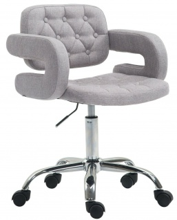 Bürostuhl grau Stoffbezug Drehstuhl Arbeitshocker modern design stabil NEU