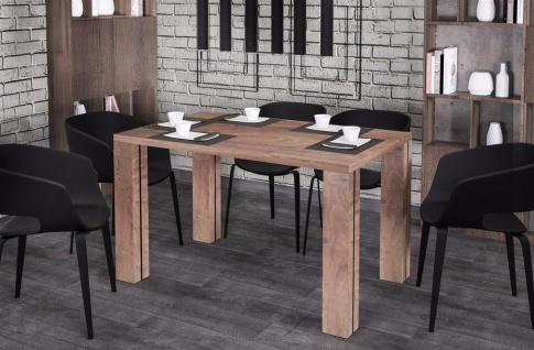 moderner Esstisch 130-175 Auszug nussbaum Esszimmertisch Küche preiswert günstig