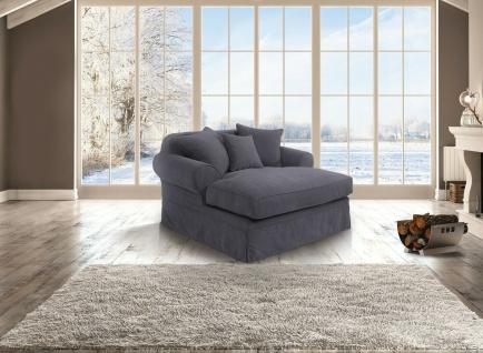 Longchair Veloursstoff Luxus Loveseat Loungesofa Relaxsessel romantisch weich