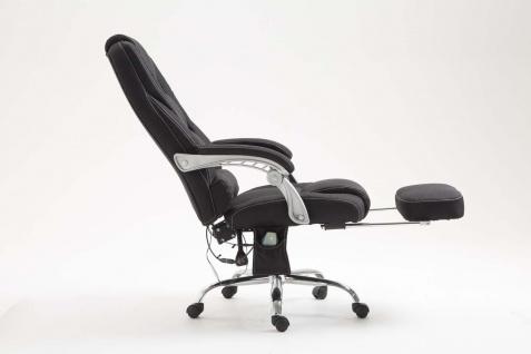 XXL Bürostuhl 150 kg belastbar schwarz Stoffbezug Chefsessel Massagefunktion - Vorschau 3
