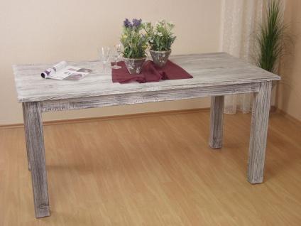 Massivholztisch used look weiß massivholz Esstisch Esszimmertisch Tisch massiv
