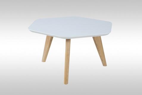 moderner Couchtisch weiß matt Esche Sofatisch Wohnzimmer Tisch design günstig